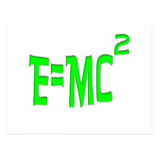 E=MC2 (verde) Tarjeta Postal