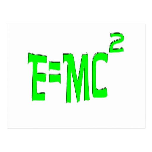 E=MC2 (verde) Tarjetas Postales