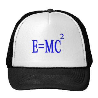 E=MC 2 (azul) Gorras