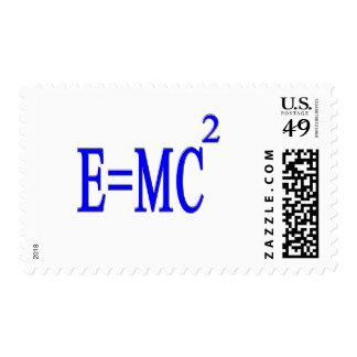 E=MC 2 (azul) Sello