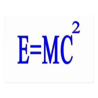 E=MC 2 (azul) Tarjeta Postal