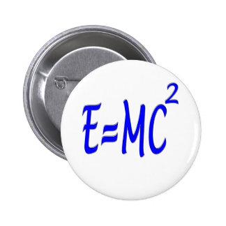 E = MC 2 (blue) 2 Inch Round Button
