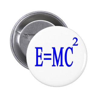 E=MC 2 (blue) 2 Inch Round Button
