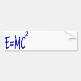 E = MC 2 (blue) Bumper Sticker