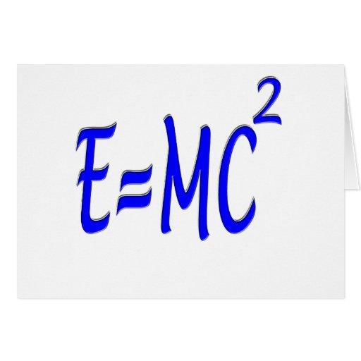 E = MC 2 (blue) Card