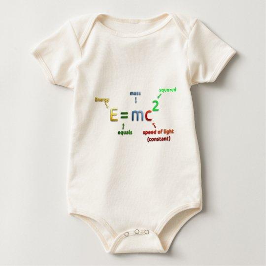 E = MC^2. E equals MC Squared Baby Bodysuit