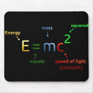E = MC^2. E equals MC Squared Mouse Pad