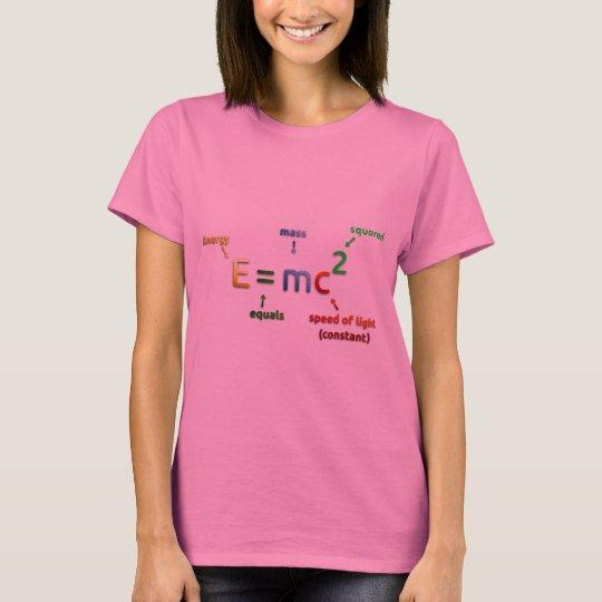 E = MC^2. E equals MC Squared NERD SHIRT - Pink