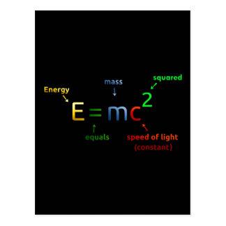 E = MC^2. E equals MC Squared Postcard