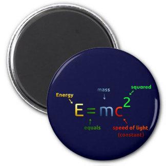 E = MC^2. E iguala la bujía métrica ajustada Imán Redondo 5 Cm