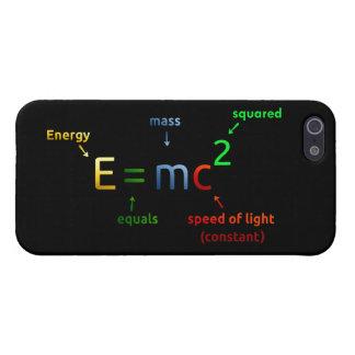 E = MC^2. E iguala la bujía métrica ajustada iPhone 5 Fundas