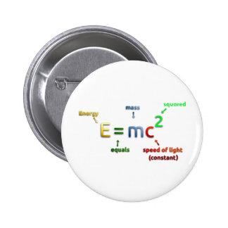 E = MC^2. E iguala la bujía métrica ajustada Pin Redondo 5 Cm