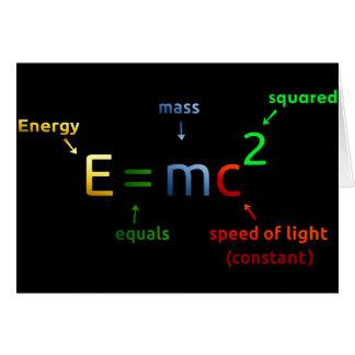 E = MC^2. E iguala la bujía métrica ajustada Tarjeta De Felicitación