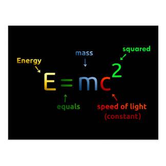 E = MC^2. E iguala la bujía métrica ajustada Tarjeta Postal