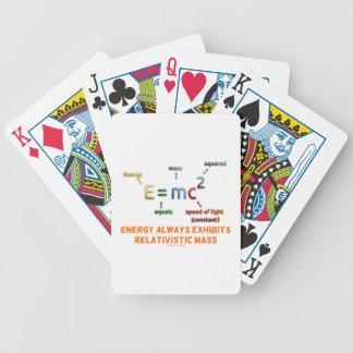 E=mc^2 Energy Always Exhibits Relativistic Mass Bicycle Playing Cards