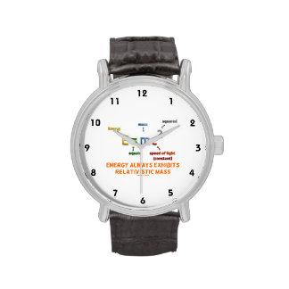 E mc 2 Energy Always Exhibits Relativistic Mass Wrist Watch
