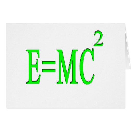 E=MC 2 (green) Greeting Card
