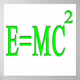 E=MC 2 (green) Poster