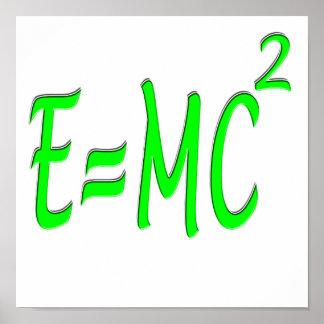 E = MC 2 (green) Poster