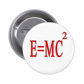 E=MC 2 (red) 2 Inch Round Button