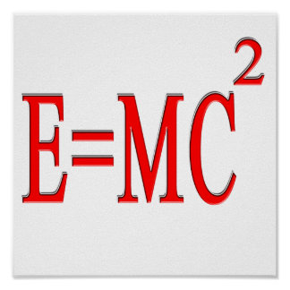 E MC 2 red Posters