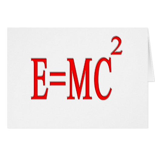 E=MC 2 (rojo) Felicitaciones