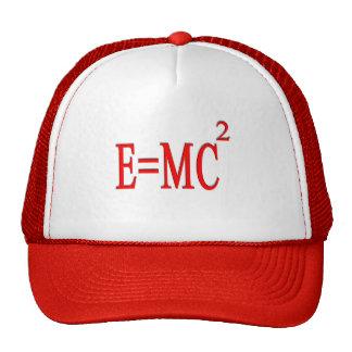 E=MC 2 (rojo) Gorro De Camionero