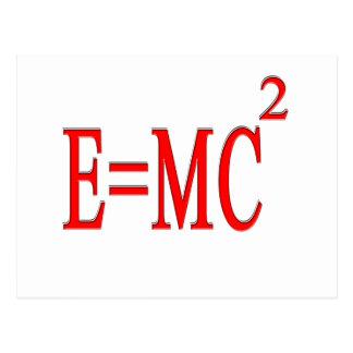 E=MC 2 (rojo) Postal