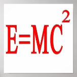 E=MC 2 (rojo) Poster
