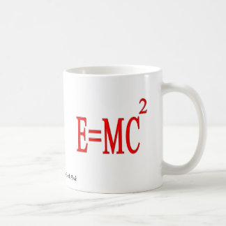 E=MC 2 (rojo) Taza Básica Blanca