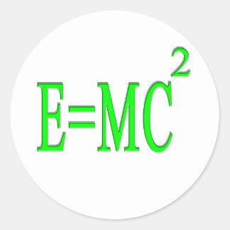 E=MC 2 (verde) Pegatina Redonda