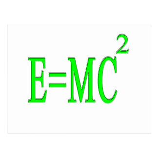 E=MC 2 (verde) Postal