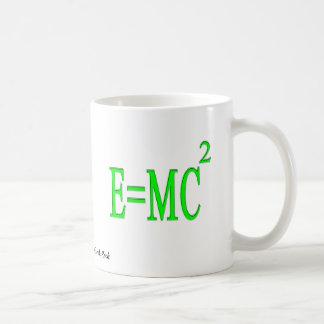 E=MC 2 (verde) Taza Básica Blanca