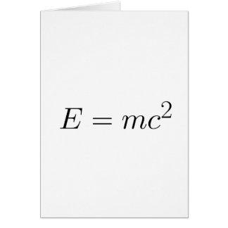 E = mc² card