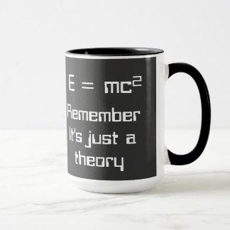 E=mc². Einstein's theory of relativity on a mug! Mug