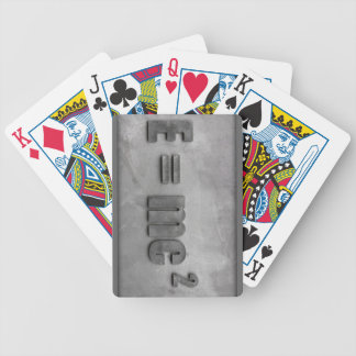 E = MC squared Bicycle Playing Cards