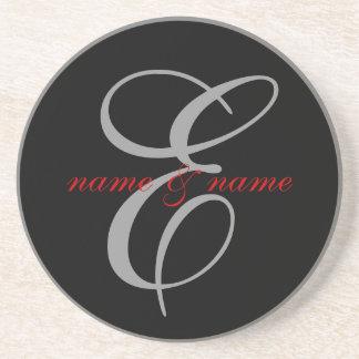 E Monogram coaster