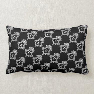 E Monogram Initial Throw Pillow
