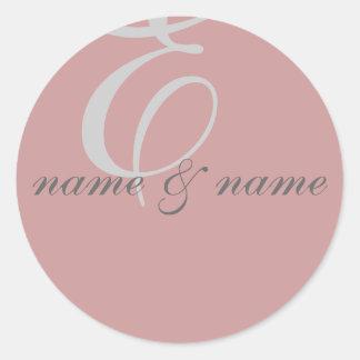 """""""E"""" monogram label - personalize"""