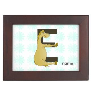 E Monogram Pony Memory Box