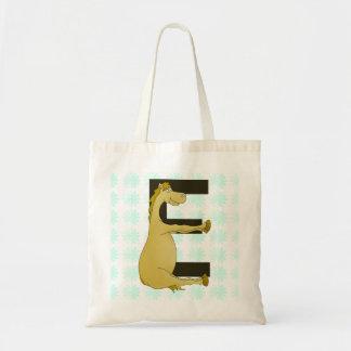 E Monogram Pony Tote Bag