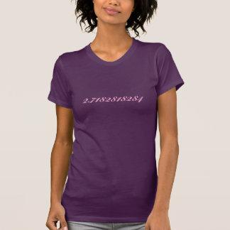 E - natural logarithm base shirt