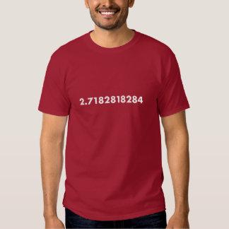 E - natural logarithm base t shirt