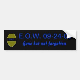 E.O.W. Bumper Sticker for LEO Car Bumper Sticker