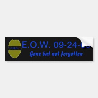 E.O.W. Pegatina para el parachoques para LEO Pegatina Para Auto