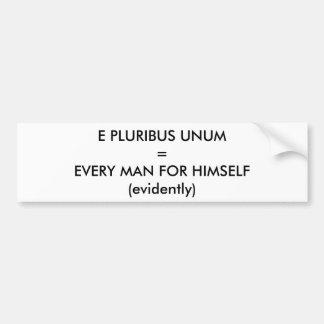 E Pluribus Unum Bumper Sticker