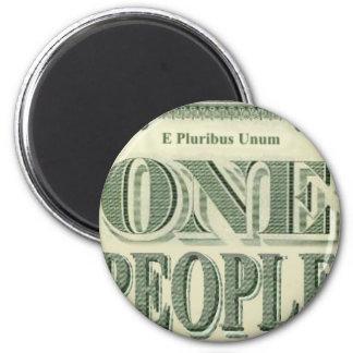 ¡E PLURIBUS UNUM es nuestro lema! Imán Redondo 5 Cm
