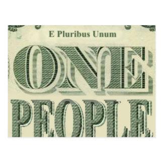 E PLURIBUS UNUM is our motto! Postcard