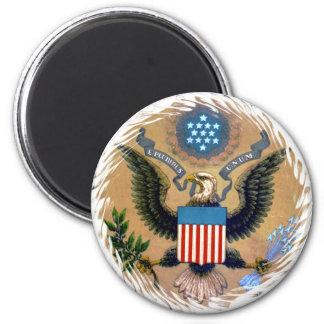 E Pluribus Unum los Estados Unidos de América patr Imán Redondo 5 Cm