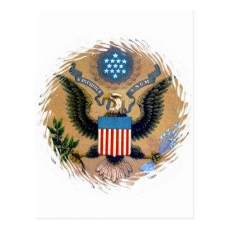 E Pluribus Unum Patriotic United States of America Postcard
